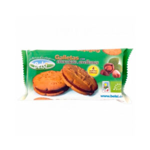 paquete de galletas con chocolate y avellana 70g belsi